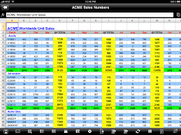 Mac Spreadsheet App Excel Files On The Ipad Or Iphone Excel Semi Pro