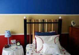 Baseball Bed Frame Basebamm Bedroom For Boys With Awesome Bed Frame And Wallpaper