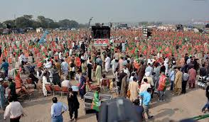 thousands of pti workers converge on islamabad for thanksgiving