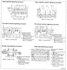 nissan titan exhaust manifold replacement 94 nissan maxima intake manifold the gasket due to vaccum leak