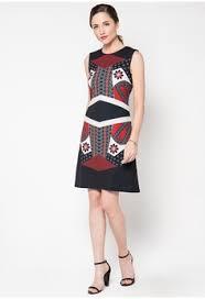 Batik Bateeq patchwork parang a line dress from bateeq inspiring style