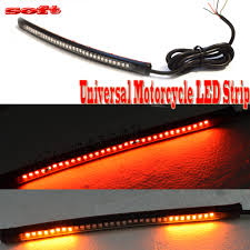 led light strip turn signal 32led 8 flexible motorcycle light strip brake tail turn signal