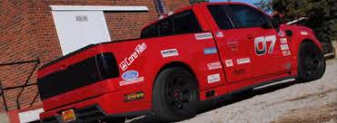 ford saleen truck truckin fast saleen s331 f 150 hits the track ford trucks com