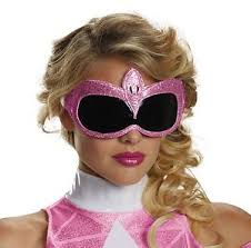 Pink Ranger Halloween Costume Mighty Morphin Power Rangers Pink Ranger Eye Mask Costume