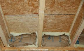 floor above unconditioned basement or vented crawlspace building