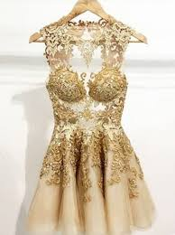 gold party dress buy simple dress handmade scoop gold tulle homecoming