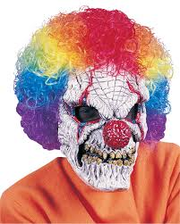 evil clown halloween mask latex realistic look scary face costume