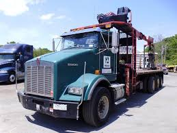 kenworth t800 trucks for sale 2004 kenworth t800 tri axle flatbed crane truck for sale by arthur