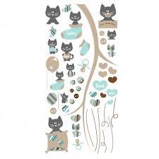 stickers pour chambre bébé garçon stickers petits chats bleu et gris pour chambre bébé garçon