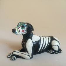 Dog Skeleton Halloween Day Of The Dead Labrador Dog Sugar Skull Pet Memorial Dia De