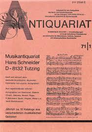 bibliotheken stuttgart katalog musikantiquariat hans schneider abebooks