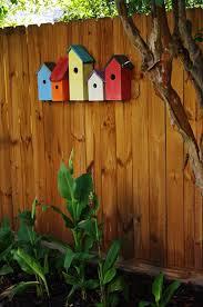 Garden Fence Decor Bird Houses Garden Fence Decor