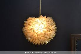 Capiz Light Pendant Faux Capiz Shell Flower Pendant Light