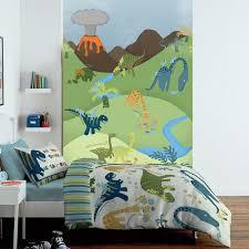 dinosaur wall murals home design ideas 1 wall cartoon dinosaur pattern childrens mural kids wall art 1 58 x 2 32m