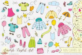 free halloween stationery background new item kids clothes clipart u0026 vector set amistyle digital art