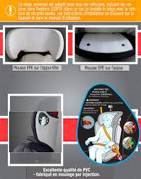 mousse de siege auto expander isofix siège auto de 15 à 36 kg groupe ii iii