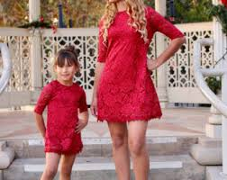 mother daughter matching dress etsy