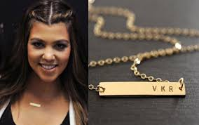 Gold Name Bar Necklace Initial Gold Bar Necklace Valentines Gift Nameplate Bar