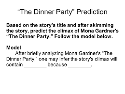 the dinner party u201d by mona gardner ppt video online download