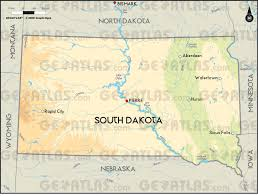 map south dakota geoatlas united states canada south dakota map city