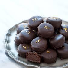 dark chocolate and banana truffles love and olive oil