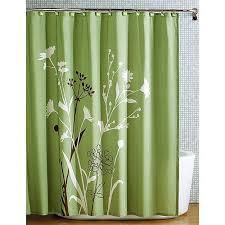 Green And Brown Shower Curtains Beautiful Green Brown Bird Nature Modern Flower Fabric