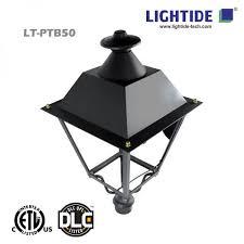 led l post light dlc premium led post top lights 50w lightide manufactory co ltd