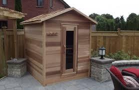 outdoor red cedar cabin sauna 6x8 dundalk canada barrel saunas