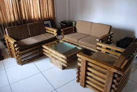 stunning simple wooden sofa design for drawing room gallery
