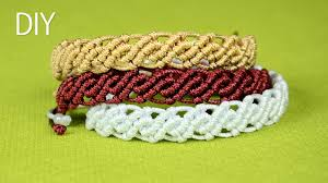 bracelet macrame patterns images This tutorial shows how to make an easy wavy macrame bracelets jpg