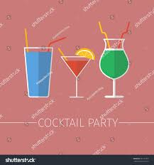 cocktail party design menu background vector stock vector