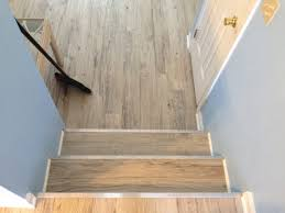 Putting Laminate Flooring On Stairs How To Apply Vinyl Plank Stair Treads Translatorbox Stair
