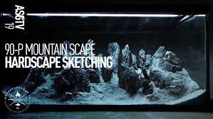 Mountain Aquascape 90 P Mountain Iwagumi Aquascape Step By Step Hardscape Sketching