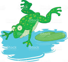 frog jumps into the water stock vector art 511941974 istock