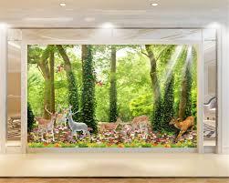 online get cheap natural tranquilizer aliexpress com alibaba group beibehang nature landscape tranquil forest deer photo wall mural wallpaper modern home decoration wallpaper papel de