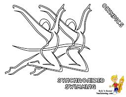 olympics summer coloring sheets free aquatics cycling