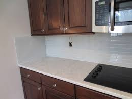home design khaki glass tile kitchen backsplash with white