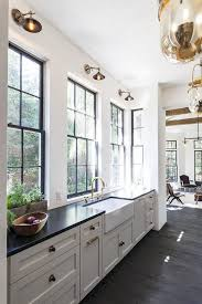 Black Countertop Kitchen by Best 25 White Farmhouse Sink Ideas Only On Pinterest Farmhouse