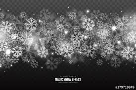 falling snowflake christmas lights vector magic falling snow effect with white realistic flying