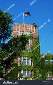Michigans Flag University Michigan Union Tower M Flag Stock Photo 56653879