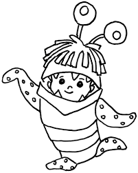 coloring page monster inc pages monsters free to print for kids