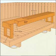 how to build deck bench seating 15 types of built in deck seating ideas
