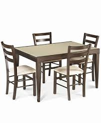 Cheap 5 Piece Dining Room Sets Café Latte 5 Piece Dining Set Glass Top Dining Table And 4