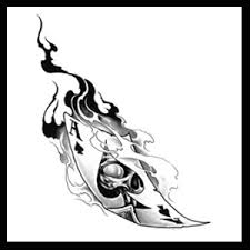 flaming dice ace of spade tattoo design in 2017 real photo