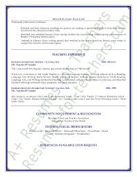 Reading Teacher Resume Teacher Resume Sample Page 2