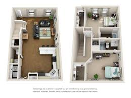 the villas at riverbend student living in baton rouge la floor plan of a 2 bed 2 5 bath student apartment