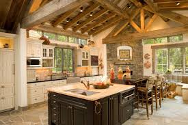 Rustic Kitchen Ideas - kitchen example of cabin kitchen ideas log cabin kitchen ideas