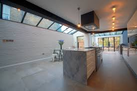 side extension door and roof light relationship kitchen