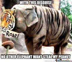 Elephant Meme - elephant disguise by enmadakota meme center