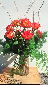 Dozen Roses One Dozen Roses In Orange Yellow Pink Purple Or White